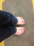 Finally in Florida - Flip Flops on before heading to the Condo - post flight