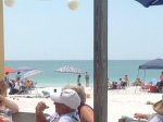 View from our seat on the patio at The Sandbar