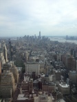 View of Lower Manhattan from the 65th floor of The Empire State Building.